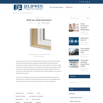 What are Jamb Extensions? – JELD-WEN BLOG