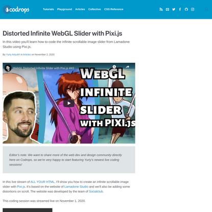 Distorted Infinite WebGL Slider with Pixi.js | Codrops