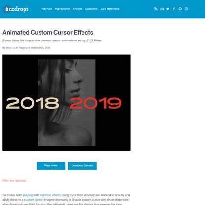 Animated Custom Cursor Effects | Codrops