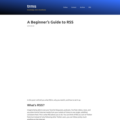 A Beginner's Guide to RSS – trms