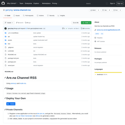 garrying/arena-channel-rss