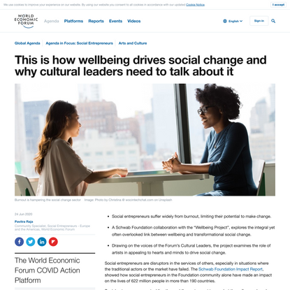 This is how wellbeing drives social change and why cultural leaders need to talk about it