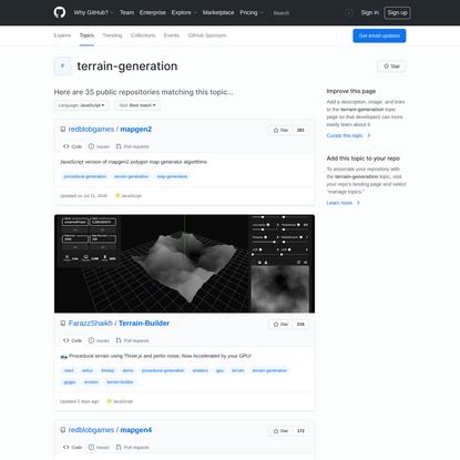 terrain-generation · GitHub Topics · GitHub