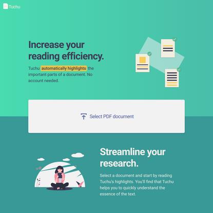 Tuchu – Automatically highlight a document