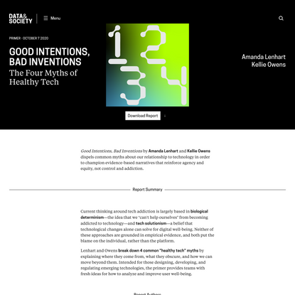 Good Intentions, Bad Inventions
