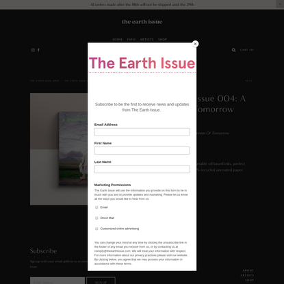 The Earth Issue 004: A Dream of Tomorrow - The Earth Issue