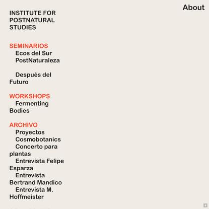 Institute for Postnatural Studies