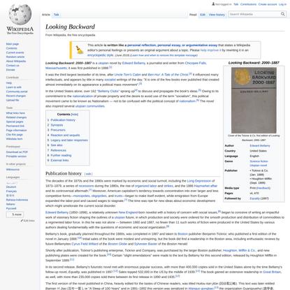 Looking Backward - Wikipedia
