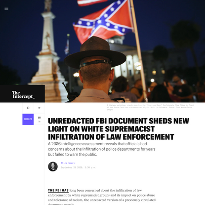 Unredacted FBI Document Sheds New Light on White Supremacist Infiltration of Law Enforcement