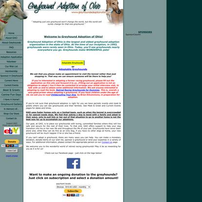 :: Welcome to Greyhound Adoption of Ohio (GAO, Inc.)! ::