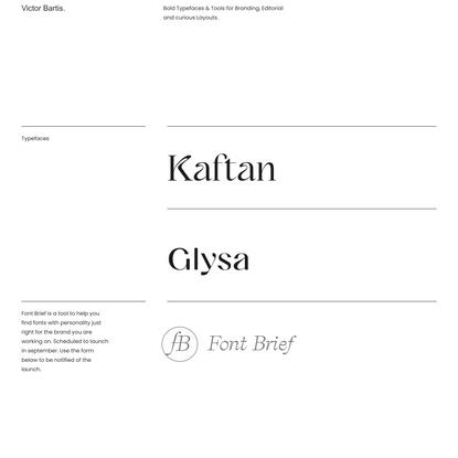 Fonts — Victor Bartis