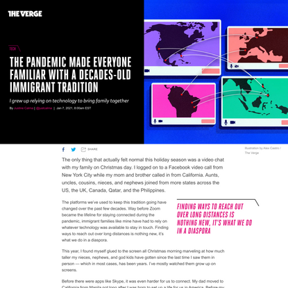 The pandemic made everyone familiar with a decades-old immigrant tradition