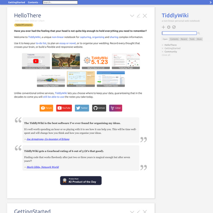 TiddlyWiki — a non-linear personal web notebook