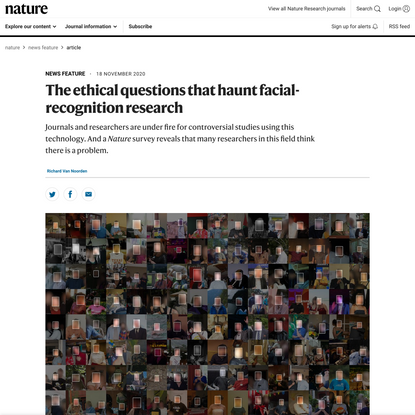 The ethical questions that haunt facial-recognition research