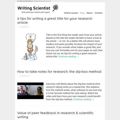Writing Scientist