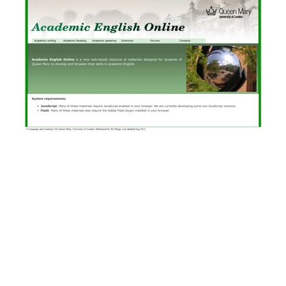 Academic English Online. Queen Mary, University of London.