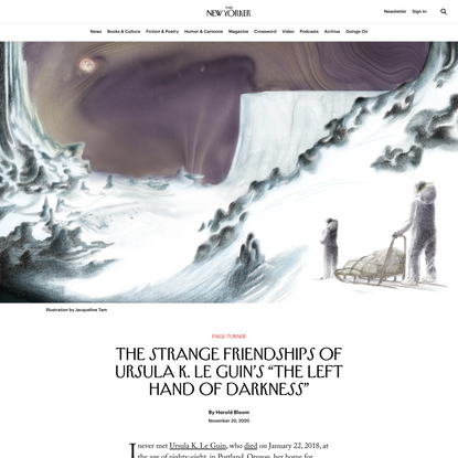 """The Strange Friendships of Ursula K. Le Guin's """"The Left Hand of Darkness"""""""