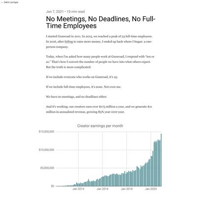 No Meetings, No Deadlines, No Full-Time Employees - Sahil Lavingia