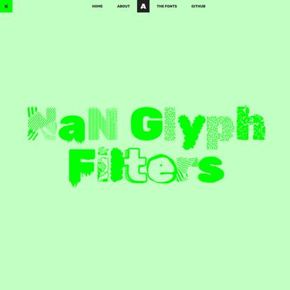 NaN Glyph Filters