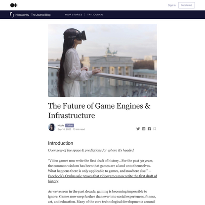 The Future of Game Engines & Infrastructure