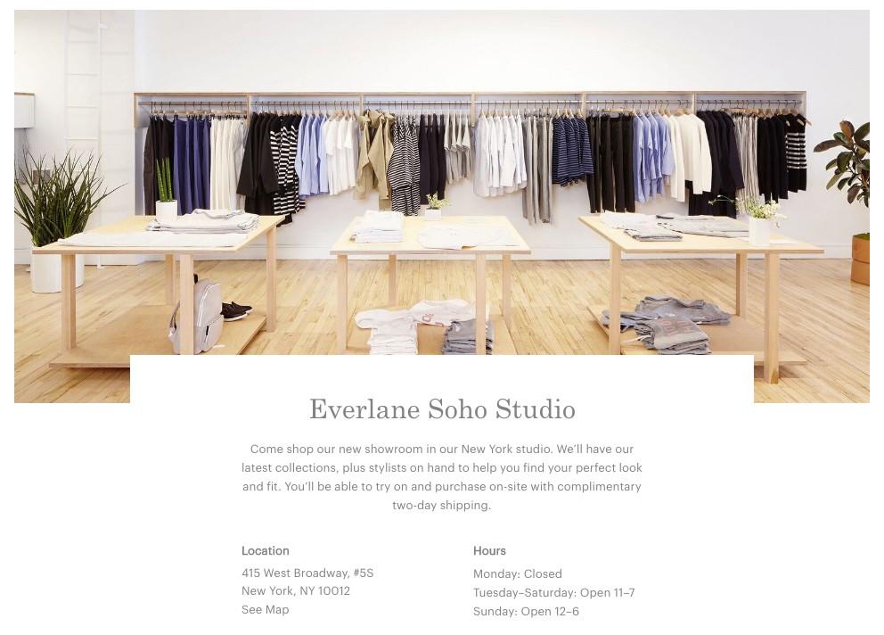 Everlane Soho Studio