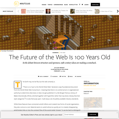 The Future of the Web Is 100 Years Old - Issue 21: Information - Nautilus