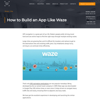 How to Build an App Like Waze | WOXAPP