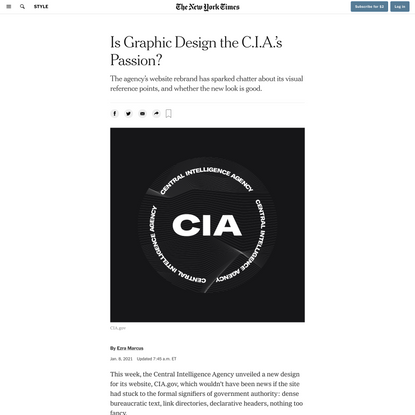 Is Graphic Design the C.I.A.'s Passion?
