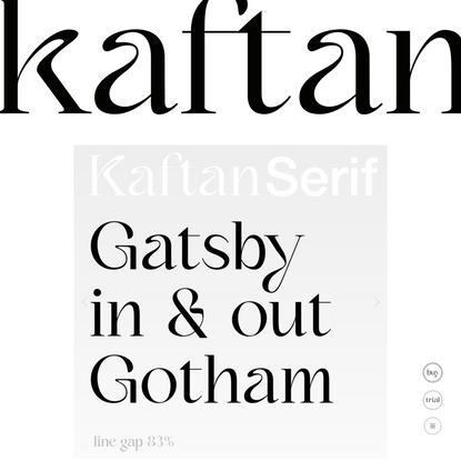 Kaftan-Serif — Victor Bartis