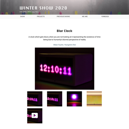 Blur Clock – Winter Show 2020