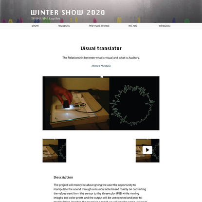 Visual translator – Winter Show 2020