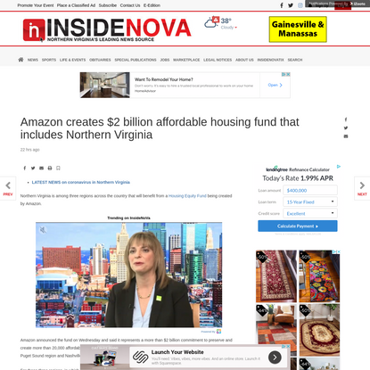 Amazon creates $2 billion affordable housing fund that includes Northern Virginia