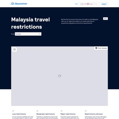 Malaysia Coronavirus (COVID-19) Flight & Travel Restrictions | Skyscanner