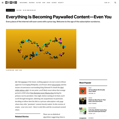 Everything Is Becoming Paywalled Content—Even You