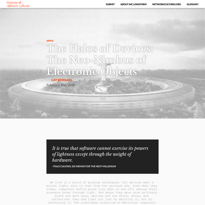 The Halos of Devices: The Neo-Nimbus of Electronic Objects