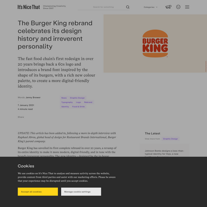 The Burger King rebrand celebrates its design history and irreverent personality