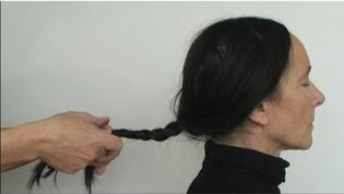"Stills from ""Her hair"", video piece by Polish artist Krystyna Piotrowska."