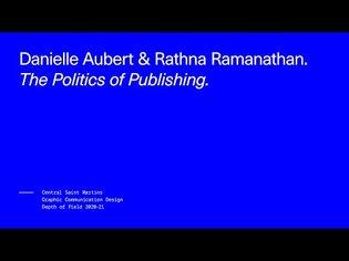 Depth of Field 2020-21: The Politics of Publishing