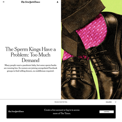 The Sperm Kings Have a Problem: Too Much Demand