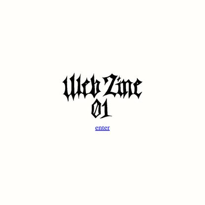 web zine 01