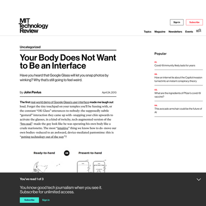 Your Body Does Not Want to Be an Interface