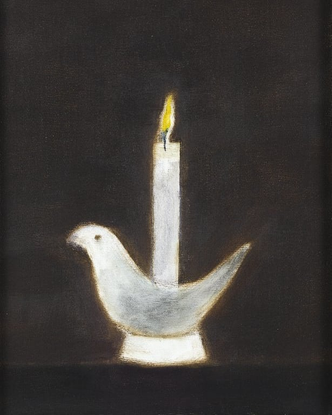 Bird and candle