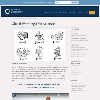 Global Warming's Six Americas - Yale Program on Climate Change Communication