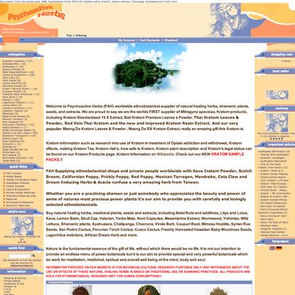 Buy Kratom, Acacia confusa, Poppy Extracts, Ayahuasca, Chaliponga, Chacruna, Maeng Da Kratom