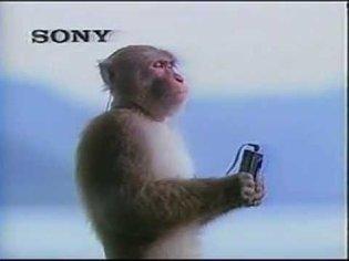Vintage Old 1980's Sony Walkman Monkey Commercial