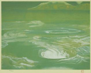 Togyu Okumura - Naruto (woodblock), 1984