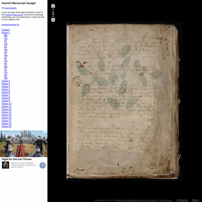 Voyage the Voynich Manuscript