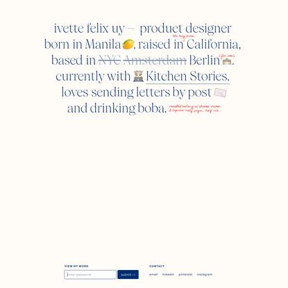 ivette felix uy – product designer