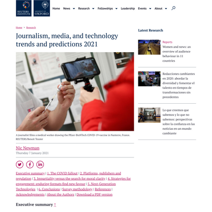 Journalism, media, and technology trends and predictions 2021