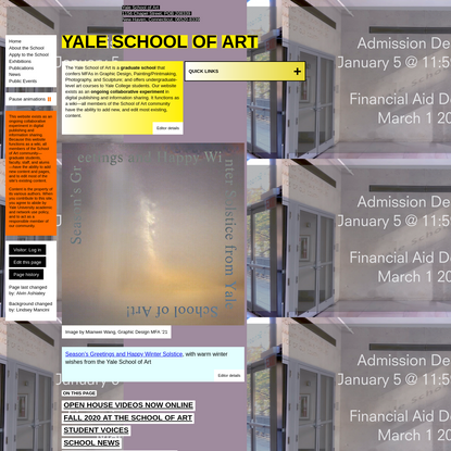 Home - Yale School of Art